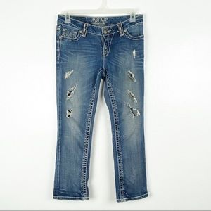 Miss Me The M Series Ripped Easy Capris, Size 28